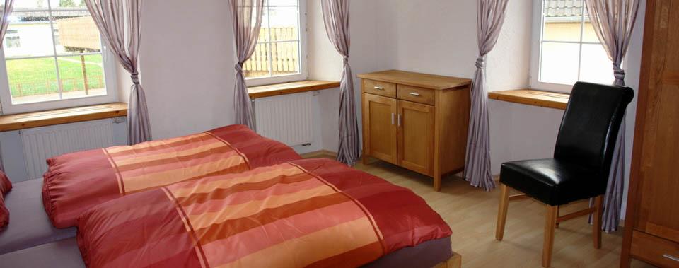Doppelzimmer im Ferien- und Gästehaus Wössner